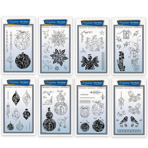 Tina's 2 Way Christmas Ornaments A6 Stamp Collection