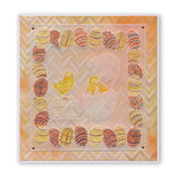 Ornate Eggs & Chicks <br/>Groovi Plate A5 Square <br/>(Set GRO-EA-40572-03)