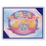 Ornate Eggs & Chicks A5 Square Groovi Plate (Set GRO-EA-40572-03)