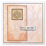 Seed Heads & Foliage Tiles + Stencils <br/>Unmounted Clear Stamp Sets Bundle