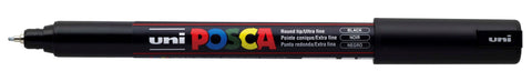 Black - Uni Posca Marker Pen - PC-1MR - Ultra Fine
