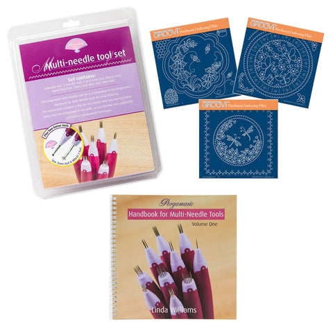 Pergamano Handbook, Multi-Needle Tools & Groovi Plates Bundle