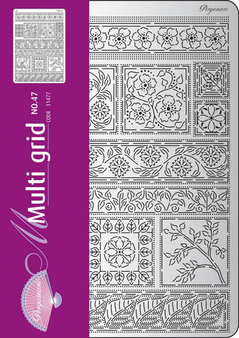 Multi Grid 47 Floral Ornaments 1 (31477)