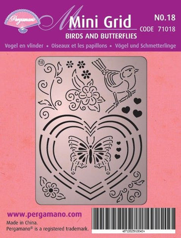 Mini Grid 18 Birds & Butterflies (71018)