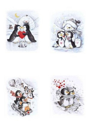 Vellum 90g Penguins A4 5 Sheets (62583)