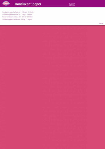 Translucent Paper Fuchsia A4 150 gsm 5 Sheets (63013)