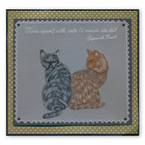 Cats & Leafy Frame <br/>Groovi Plate Set