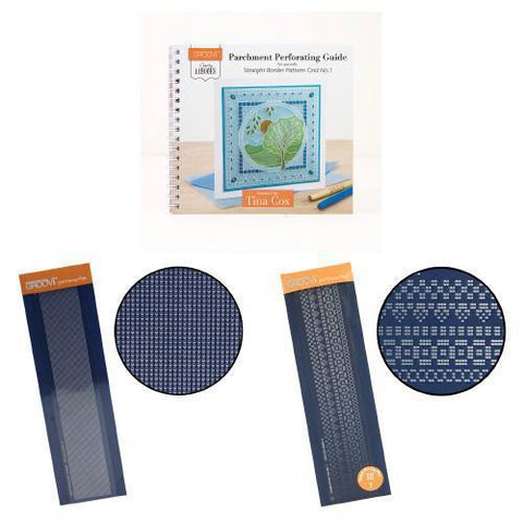 Clarity ii Book: Parchment Perforating Guide Bundle for Straight Border Pattern Grid No. 1