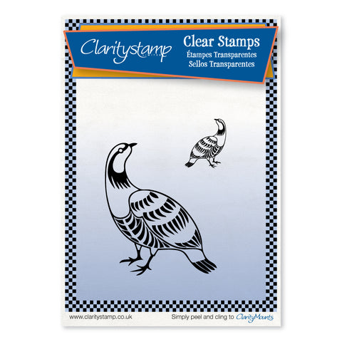 Partridges <br/>Unmounted Clear Stamp Set