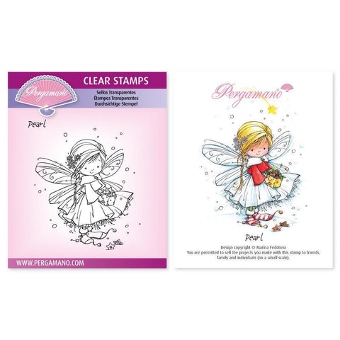 Christmas Poppets - Pearl Stamp Artwork by Marina Fedotova