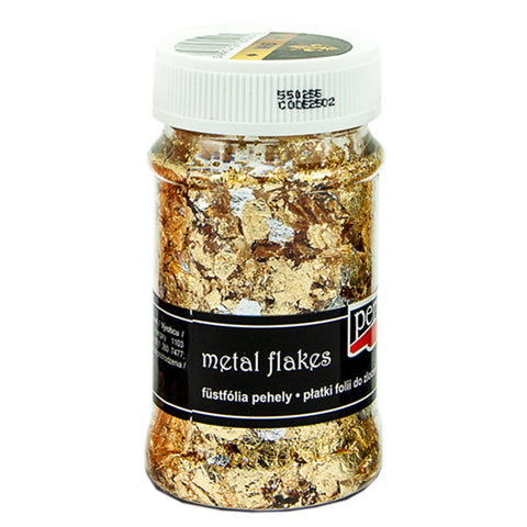 Metal Flakes - Variegated Gold & Silver (M6)