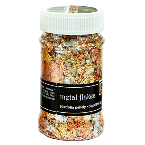 Metal Flakes - Variegated Gold, Silver & Copper (M3)