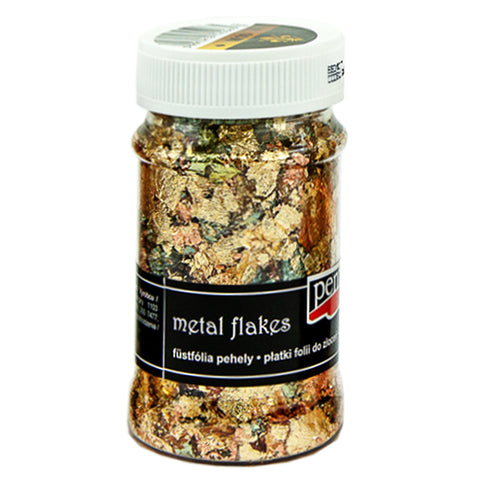 Metal Flakes - Variegated Gold & Copper (M10)