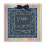 Merry Christmas & Birthday Mini Word Chains Groovi Border Plate