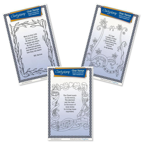 Poetry Trio Set Two - Life <br/>Unmounted Clear Stamp Sets