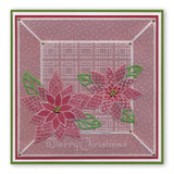 Jayne's Poinsettia <br/>A5 Square Groovi Plate <br/>(Set GRO-FL-40420-03)
