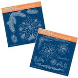 Jayne's Poinsettia Set <br/> A5 Square Groovi Plates (Set of 2)