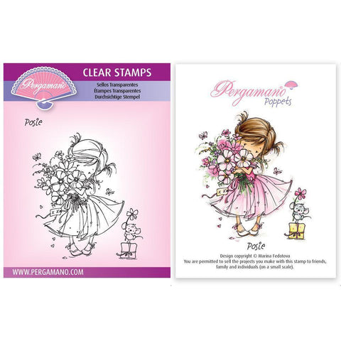 Flower Poppets - Posie Stamp <br/> Artwork by Marina Fedotova