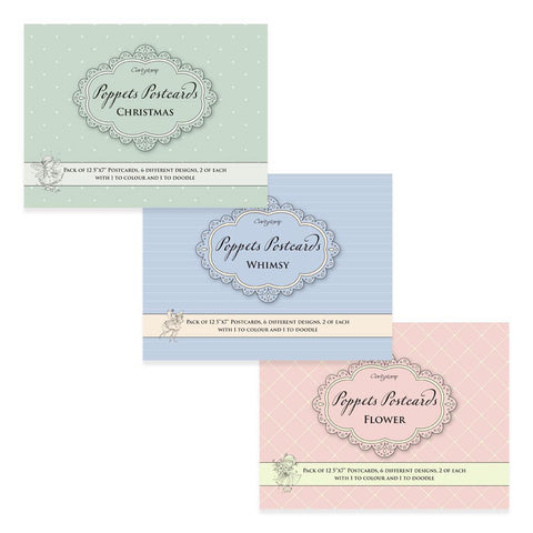 Poppets Postcards Collection (3 for the price of 2!)