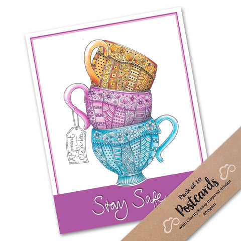 Pack of 10 Postcards - A Moment of Clari-Tea (Portrait)