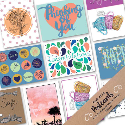 Pack of 10 Postcards - Assortment Pack