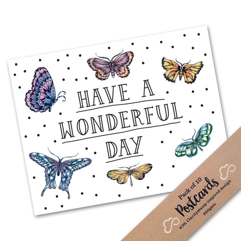 Pack of 10 Postcards - Cherry's Have a Wonderful Day