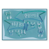 Birthday & Darling Word Chains <br/>Groovi Border Plate <br/>(Set GRO-WO-40576-XX)