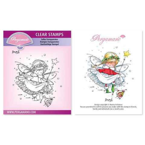 Christmas Poppets - Presh Stamp <br/> Artwork by Marina Fedotova