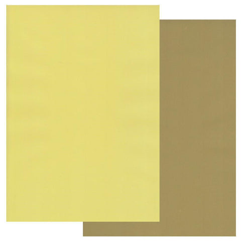 Olive Green & Primrose Yellow x10 Groovi Two Tone Parchment Paper A4