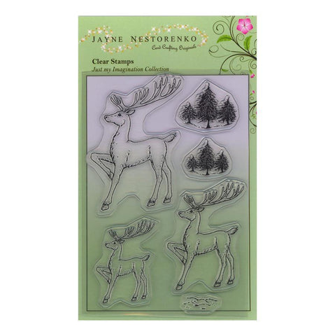 Reindeer Trio <br/>Unmounted Clear Stamp Set