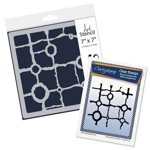 Rocky Block <br/>Stamp Set & Stencil Bundle