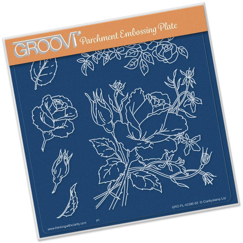 Jayne's Roses <br/>A5 Square Groovi Plate