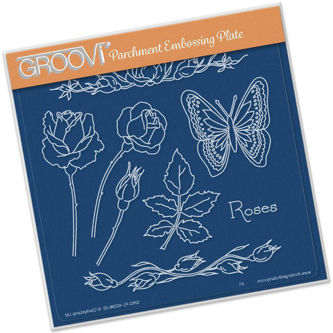 Jayne's Roses Name <br/>A5 Square Groovi Plate