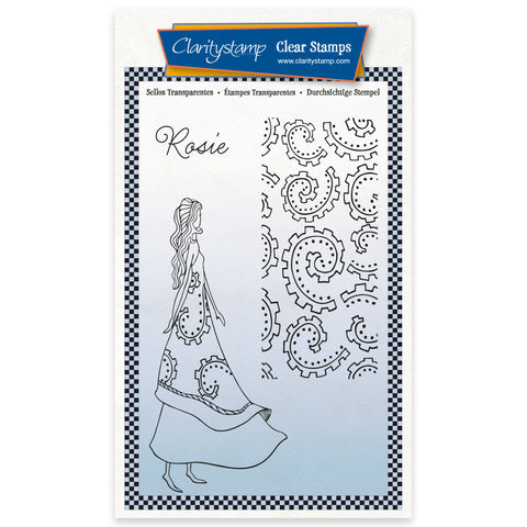 Barbara's Clarity Characters - Rosie A6 Unmounted Stamp & Mask Set