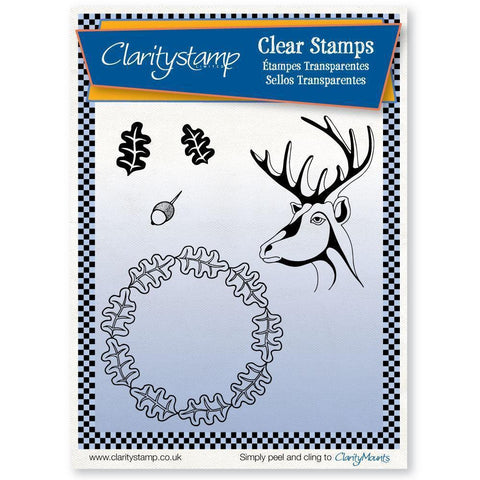 Oak & Deer + MASK Unmounted Clear Stamp Set