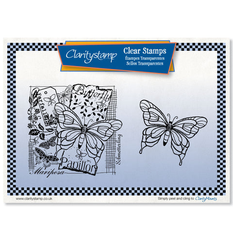 Butterfly Montage <br/>Unmounted Clear Stamp Set