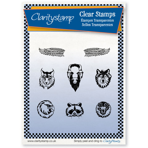 Animal Totem <br/>Unmounted Clear Stamp Set