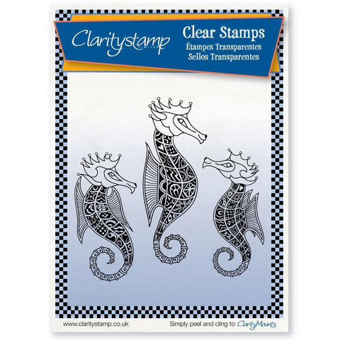 Filigraphy Seahorses <br/>Unmounted Clear Stamp Set