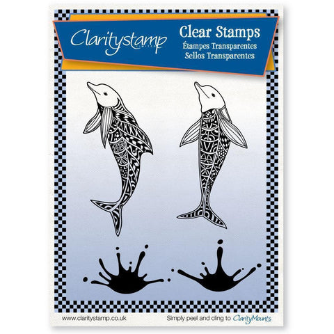 Filigraphy Dolphins <br/>Unmounted Clear Stamp Set