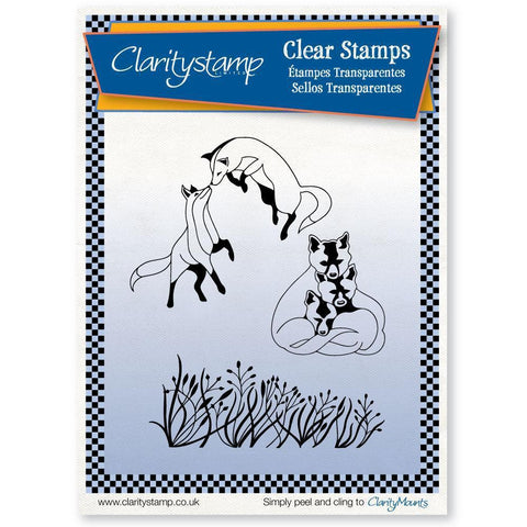 Foxes + MASK <br/>Unmounted Clear Stamp Set