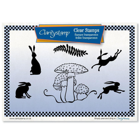 Toadstool & Hares + MASK <br/>Unmounted Clear Stamp Set