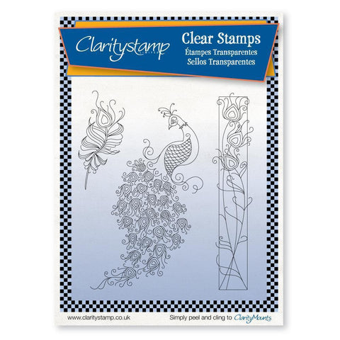 Linda's Peacock <br/>Unmounted Clear Stamp Set