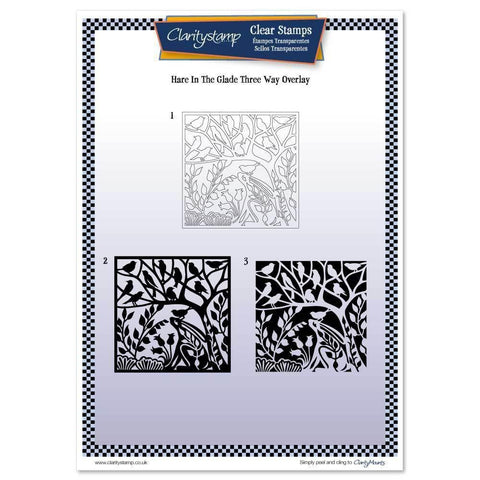 Hare in the Glade Three Way Overlay <br/>Unmounted Clear Stamp Set