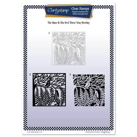 Hare and the Owl Three Way Overlay <br/>Unmounted Clear Stamp Set