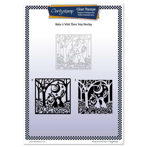 Make a Wish Three Way Overlay Unmounted Clear Stamp Set