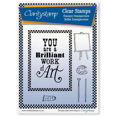 Brilliant Work of Art + MASK <br/>Unmounted Clear Stamp Set