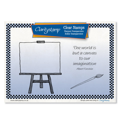 Easel <br/>Unmounted Clear Stamp Set