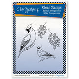 Finches + MASK <br/>Unmounted Clear Stamp Set