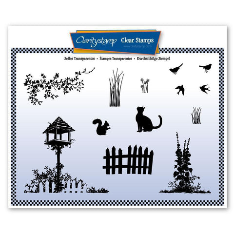 Birdhouse Garden Unmounted Clear Stamp Set