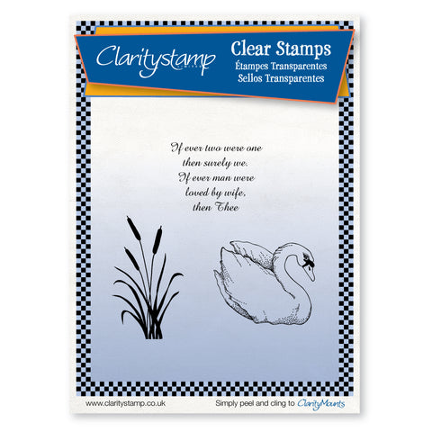 Swan <br/>Unmounted Clear Stamp Set